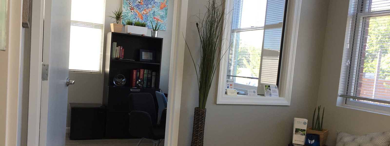 view of the waiting area of JOVA acupuncture